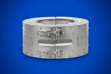 Insulation collar for band heaters